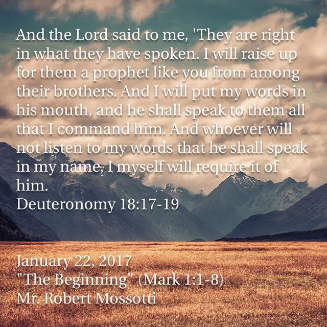 Mark 1 1 >> The Beginning Mark 1 1 8 Mid Cities Presbyterian Church